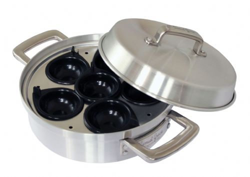 Samuel Groves Aluminium Heavy Base 400 Egg Poacher & Lid